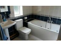 Jacuzzi bath,towel rail, toilet and sink vgc