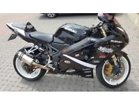 2004 k4 gsxr 600 low milage.loads of extras new tyres new service decat skorpion mapped