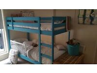 Mydal Ikea bunk bed - painted in turquoise - good condition