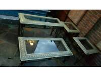 Dining table coffee table side table set