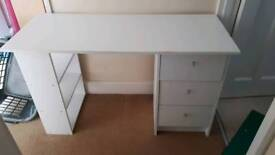 White Malibu 3 drawer desk from argos