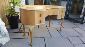 Vintage kidney shaped dressing table