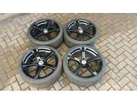 "TEAM DYNAMICS JADE R 19"" ALLOY WHEELS 5X110 VAUXHALL SAAB ALFA VXR SRI TURBO PENTA ASTRA VECTRA"