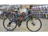 SARACEN AWOL BIKE 26 INCH WHEELS 21 SPEED FULL SUSPENSION FRONT DISC BRAKE BLACK GOOD CONDITION