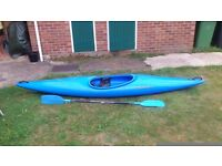 Perception Kayak..Adult size with paddle,used,normal scratches on bottom.11 foot long..£80