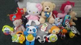 Babies teddy's n few toys