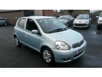 2004 TOYOTA YARIS 1.0L IDEAL FIRST CAR LOW MILES 1 YEARS MOT PX WELCOME
