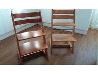 2 X Stokke Tripp Trapp Chairs
