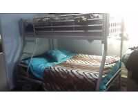 Metal Bunkbed Double / Single with matresses £100