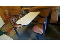 Chairs with 4 tables good condition