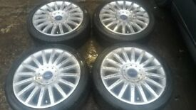 """18"""" GENUINE FORD ST POLISHED ALLOY WHEELS / TYRES"""