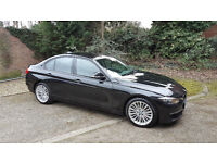 BMW 320D Luxury, Black, Full leather, sat Nav, reversing camera, £30 Tax, up for Trade with van+Cash