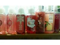 Bath And Body works candles, soaps, hand sanitizers