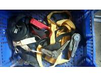 Job lot of straps for trailer or roof rack.