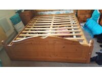 5ft solid pine bed no mattress