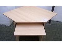 computer table corner unit beech colour