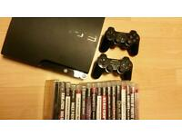 Sony PS3 slim blueray +17 games