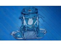 Osprey WM (medium) Ariel 55L deep sea blue backpack/rucksack