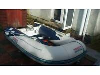 Honda dinghy and mercury outboard
