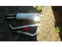 "VW Bora Milltek/Miltek cat back exhaust system stainless steel 2.5"" bore suit TDi and 1.8t models"