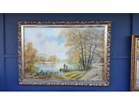 Peaceful Moments Gild Framed Print by Don Vaughan