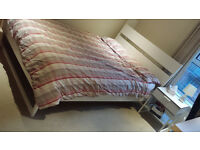 IKEA Trysil Double Bed frame PLUS Double mattress