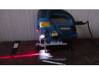 Jigsaw with light and laser pointer +Bosch 9.6 v screw driver