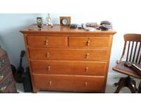 Large vintage oak chest of drawers