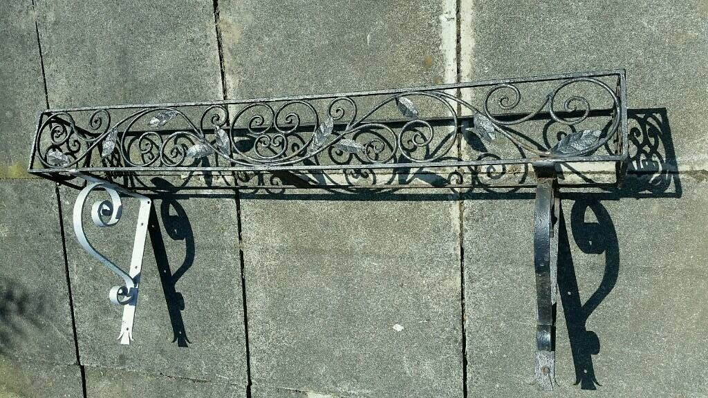 Large Reclaimed Wrought Iron Window Box Planter