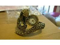 Snake watch bangle jewellery