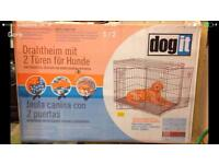 As new dog crate
