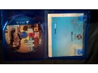 gta5 for sale for ps4 in good condition including map