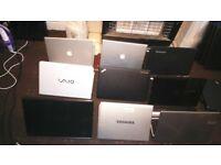 10 Joblot laptops
