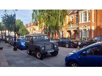 "Land Rover. Series 2. 1970. 88"". 2286cc Ridged Body. Green/White. Short Wheel Base. MOT & Tax"