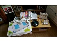 Nintendo Wii, board, games and accessories