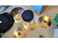 Full drumkit - cymbals, double kick drum pedal, toms...