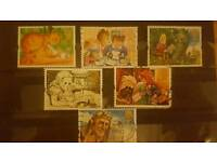 Set of 6 childrens story themed stamps