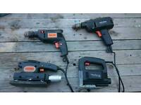 4 power tools all in good working condition