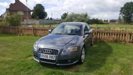 2006 Audi A4 tdi S line 4 dr. Grey MOT 14 Feb 2019. Some history very good condition. All round