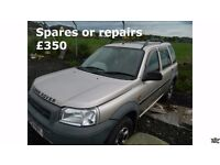 Landrover Freelander 2001 Selling spares or repairs