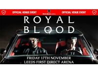 Friday 17th Nov- face value Royal Blood at First Direct Arena Leeds support band At The Drive In