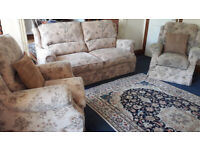 3 Seater Sofa Bed & 2 Armchairs