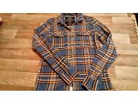 MENS SUPERDRY CHECKED SHIRT SIZE M