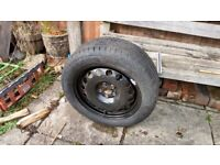 205/55R16 Continental Sport Contact 2 on 5x100 Steel Wheel