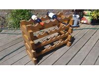 Custom made rustic wine rack