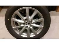 3x mazda alloys with tyres 225/55/17