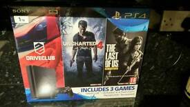 PS4 with games. Brand new unopened