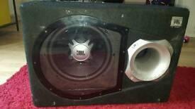Jbl sub and 1800 watt amp