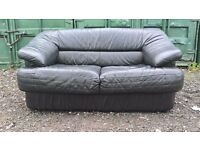 Black leather 2 seater sofa 40£ * Delivery