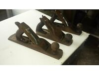 Three woodwork planes for sale.